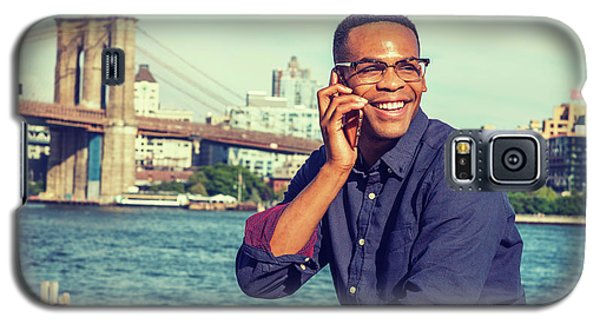 African American Man Traveling In New York Galaxy S5 Case