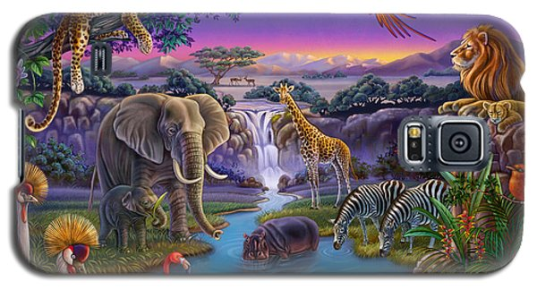 African Animals At The Water Hole Galaxy S5 Case
