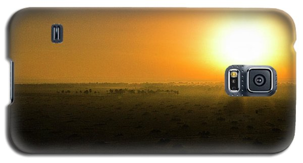 Galaxy S5 Case featuring the photograph African Balloon Sunrise by Karen Lewis