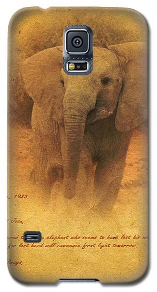 Galaxy S5 Case featuring the mixed media African Elephant by John Wills