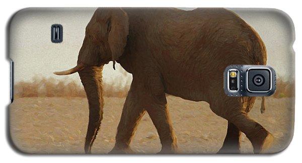 African Elephant Walk Galaxy S5 Case by Ernie Echols