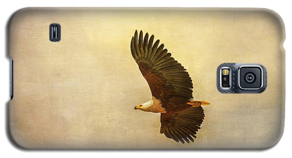 Galaxy S5 Case featuring the tapestry - textile African Fish Eagle by Kathy Adams Clark