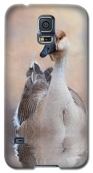 Galaxy S5 Case featuring the photograph African Goose by Robin-Lee Vieira