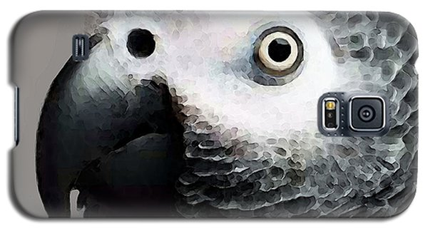 African Gray Parrot Art - Softy Galaxy S5 Case