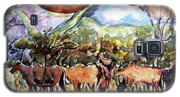 African Herdsmen Galaxy S5 Case by Bankole Abe