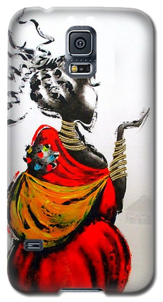African Lady And Baby Galaxy S5 Case