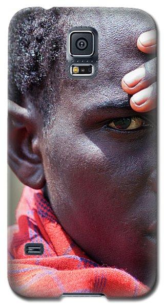 African Maasai Warrior Galaxy S5 Case by Amyn Nasser