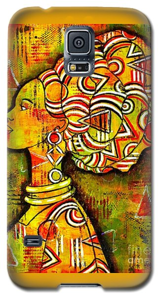 Galaxy S5 Case featuring the painting African Queen by Julie Hoyle