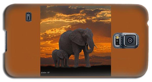 African Sunset-k Galaxy S5 Case
