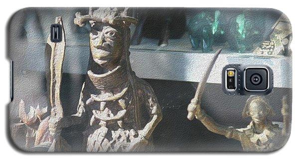 African Warrior Figurine Galaxy S5 Case
