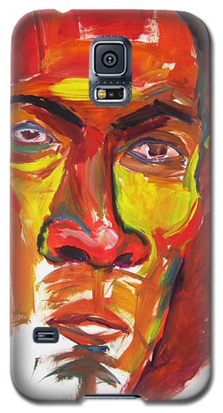 Galaxy S5 Case featuring the painting Afro by Shungaboy X