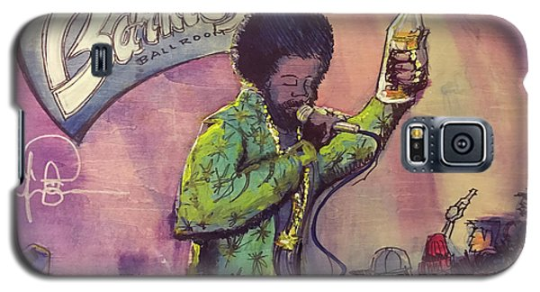 Galaxy S5 Case featuring the painting Afroman At Barkleys by David Sockrider