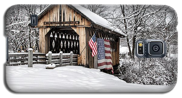 After A Winter Snow Storm Cilleyville Covered Bridge  Galaxy S5 Case