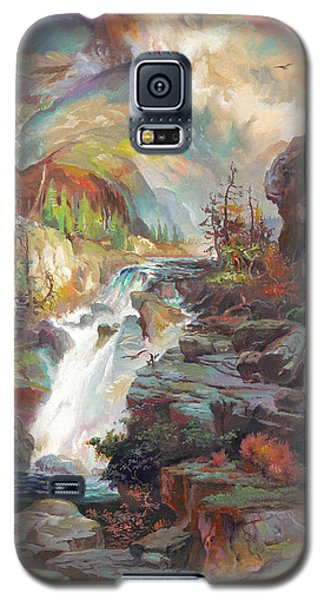 Galaxy S5 Case featuring the painting After T. Moran by John Norman Stewart