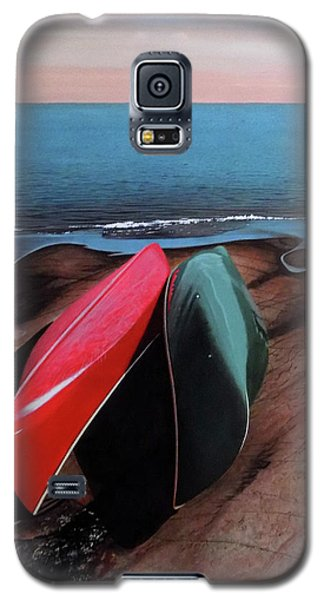 Galaxy S5 Case featuring the painting After The Crossing by Kenneth M Kirsch