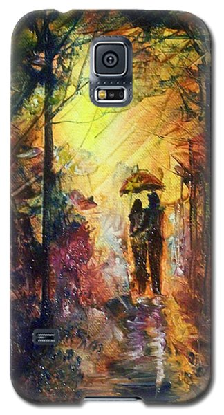 Galaxy S5 Case featuring the painting After The Rain by Raymond Doward