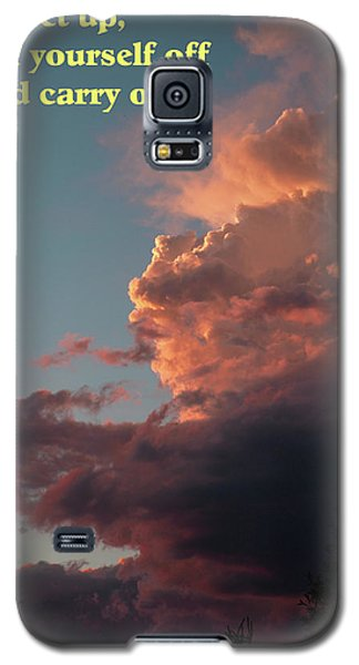 Galaxy S5 Case featuring the photograph After The Storm Carry On by DeeLon Merritt