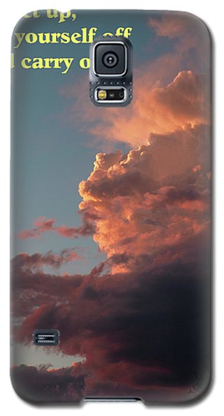 After The Storm Carry On Galaxy S5 Case by DeeLon Merritt