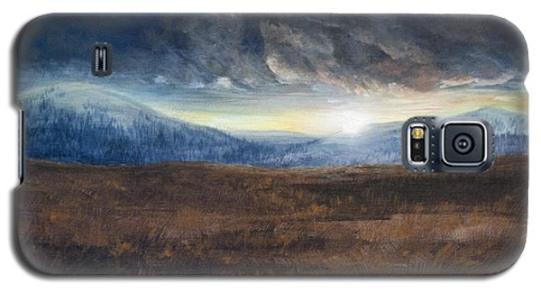 Galaxy S5 Case featuring the painting After The Storm - Cool Tone by Jessica Tookey