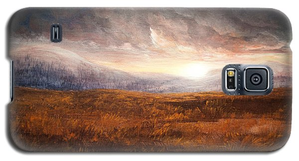 Galaxy S5 Case featuring the painting After The Storm - Warm Tones by Jessica Tookey