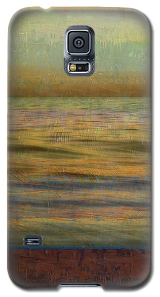 Galaxy S5 Case featuring the photograph After The Sunset - Teal Sky by Michelle Calkins