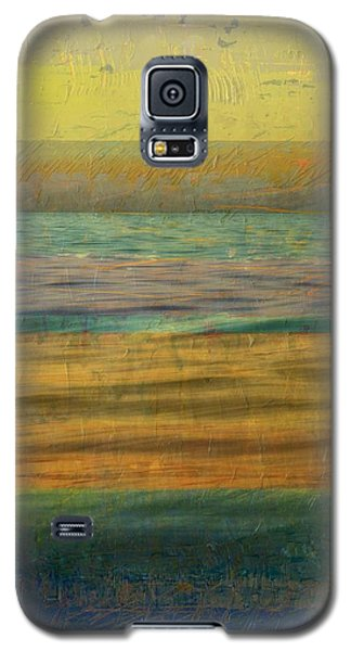 Galaxy S5 Case featuring the photograph After The Sunset - Yellow Sky by Michelle Calkins