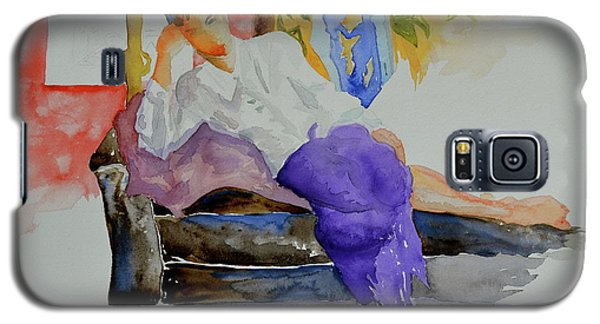Galaxy S5 Case featuring the painting After Work by Beverley Harper Tinsley