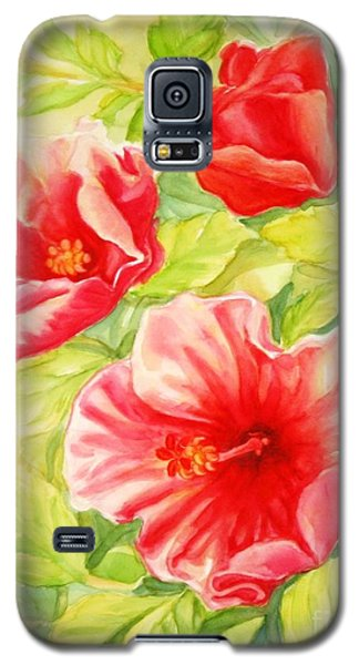 Galaxy S5 Case featuring the painting Afternoon Hibiscus by Inese Poga