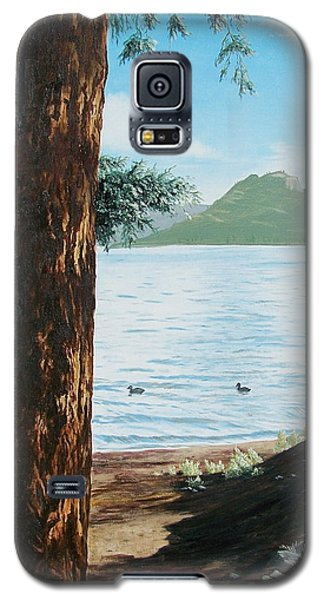 Galaxy S5 Case featuring the painting Afternoon Invitation by Bonnie Heather