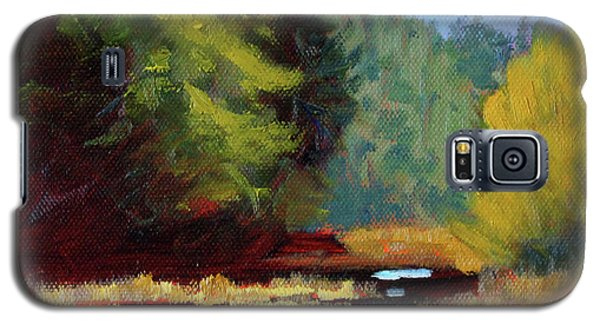 Galaxy S5 Case featuring the painting Afternoon On The River by Nancy Merkle