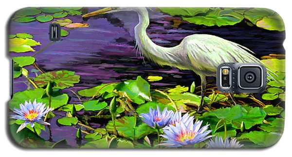 Galaxy S5 Case featuring the painting Afternoon Snack by David  Van Hulst