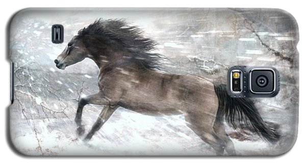 Galaxy S5 Case featuring the digital art Against The Wind by Dorota Kudyba