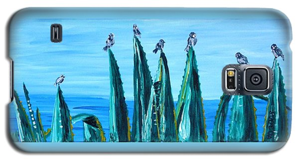 Agave With Sparrows Galaxy S5 Case by Valerie Ornstein