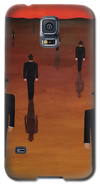 Galaxy S5 Case featuring the painting Agents Orange by Thomas Blood