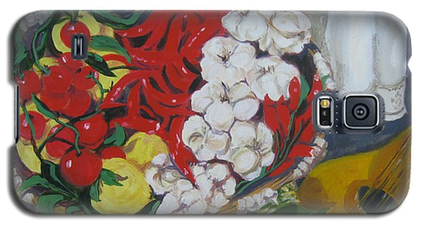 Galaxy S5 Case featuring the painting Aglio  by Julie Todd-Cundiff