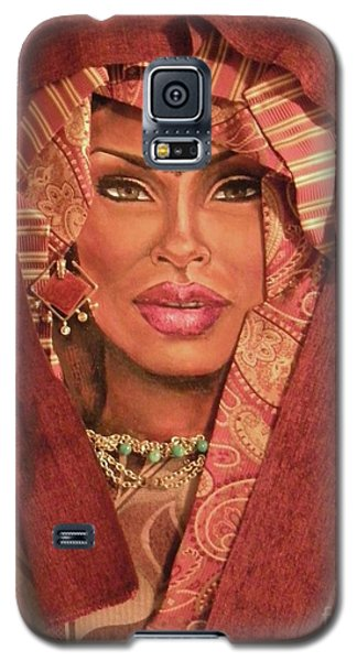 Galaxy S5 Case featuring the painting Aglow by Alga Washington