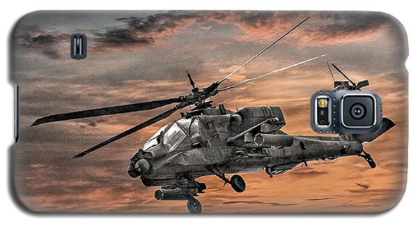 Helicopter Galaxy S5 Case - Ah-64 Apache Attack Helicopter by Randy Steele