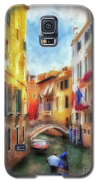 Galaxy S5 Case featuring the digital art Ahh Venezia Painterly by Lois Bryan