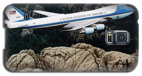 Air Force One Flying Over Mount Rushmore Galaxy S5 Case by War Is Hell Store