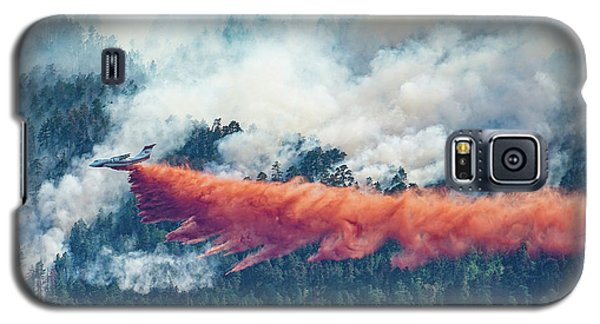Air Tanker On Crow Peak Fire Galaxy S5 Case