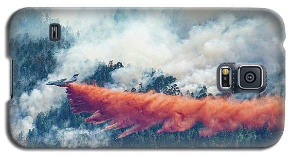 Air Tanker On Crow Peak Fire Galaxy S5 Case
