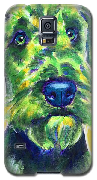 Airedale Terrier - Apple Green Galaxy S5 Case