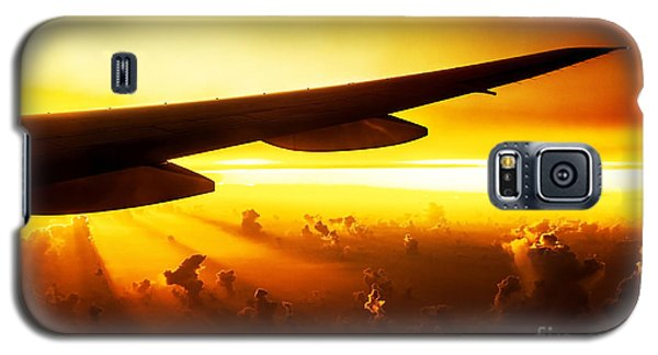 Airplane On Sunset Galaxy S5 Case
