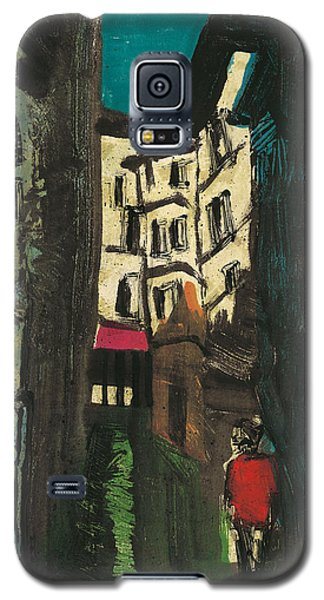 Galaxy S5 Case featuring the painting Aix En Provence Street by Martin Stankewitz