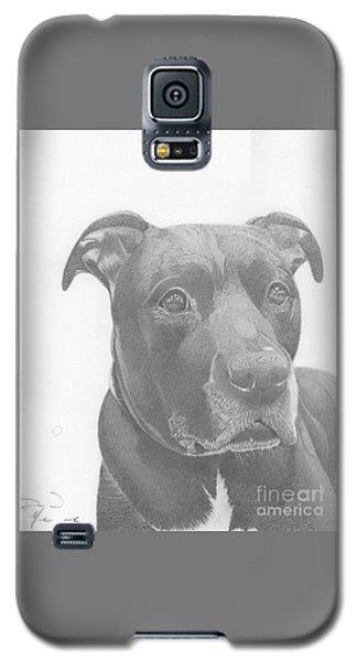 Ajax Graphite Dog Portrait  Galaxy S5 Case