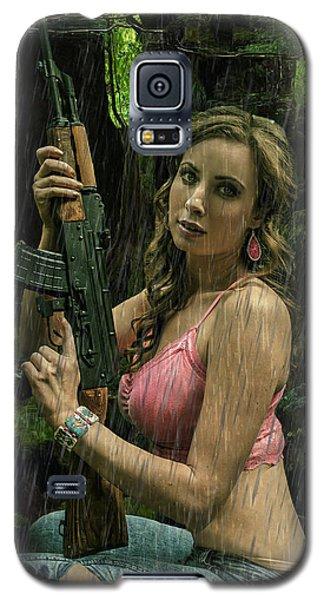 Ak47 In The Rain Galaxy S5 Case