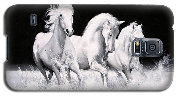 White Horse Galaxy S5 Case - Al Galoppo  Nella Notte by Guido Borelli