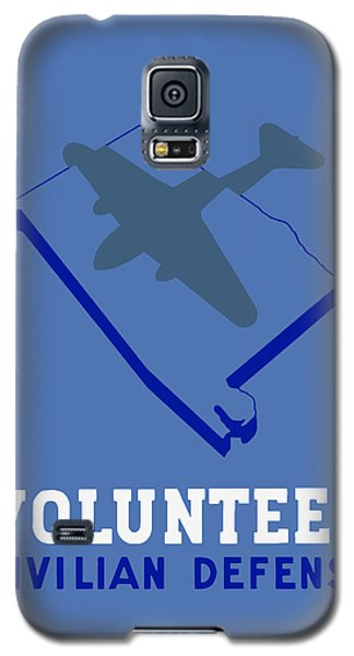 Galaxy S5 Case featuring the painting Alabama Civilian Defense - Wpa by War Is Hell Store