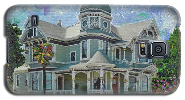Galaxy S5 Case featuring the painting Alameda 1893  Queen Anne  by Linda Weinstock