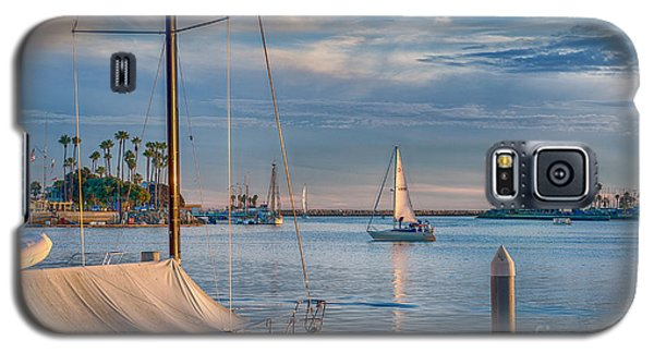 Alamitos Bay Inlet Sailboat Galaxy S5 Case by David Zanzinger